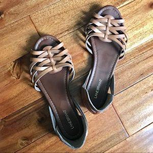 Lane Bryant huarache peep toe d'Orsay sandals 11W